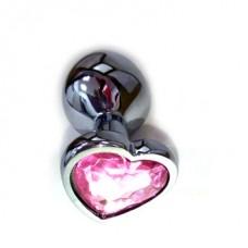 Анальная пробка с сердечком, размер М